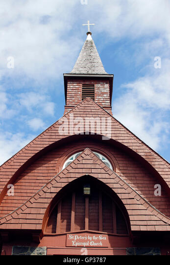 St Peters by the Sea Episcopal Church Sitka Alaska Inside Passage Southeast Alaska USA - Stock Image