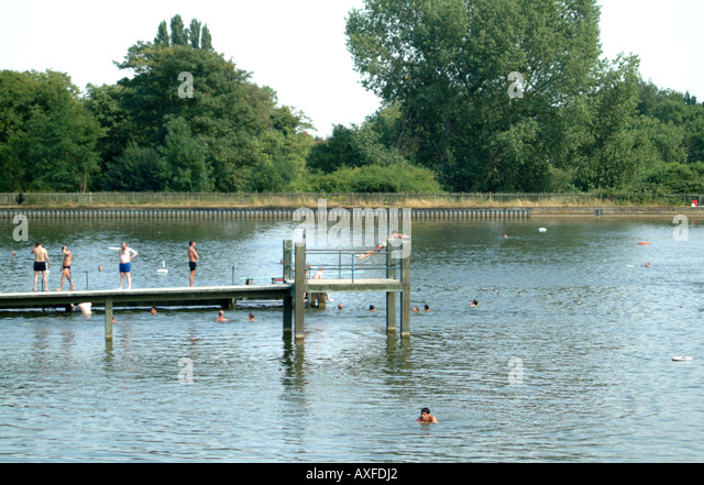 Hampstead Heath Pond Swimmers Stock Photos Hampstead Heath Pond Swimmers Stock Images Alamy