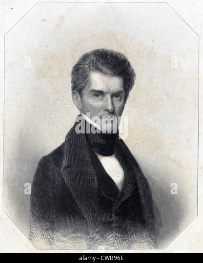 John C. Calhoun, 1830s - Stock Image