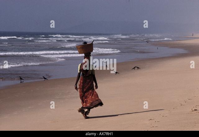 Sinquerim Beach, Fort Aquata Goa, Indien - Stock-Bilder