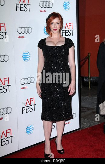 Christina Hendricks at the 'Ginger And Rosa' Special Screening AFI FEST 2012, Chinese Theater, Hollywood, - Stock Image