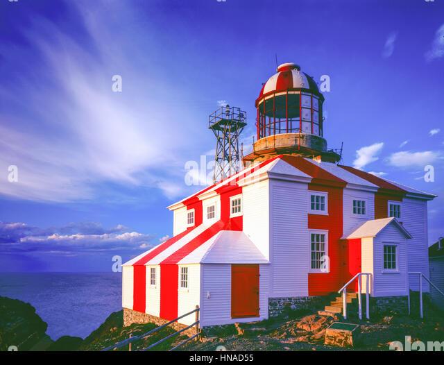 Cape Bonavista Lighthouse, Bonavista Pennisula, New Foundland, Canada Built in 1843, Cape Bonavista Lighthouse  - Stock-Bilder