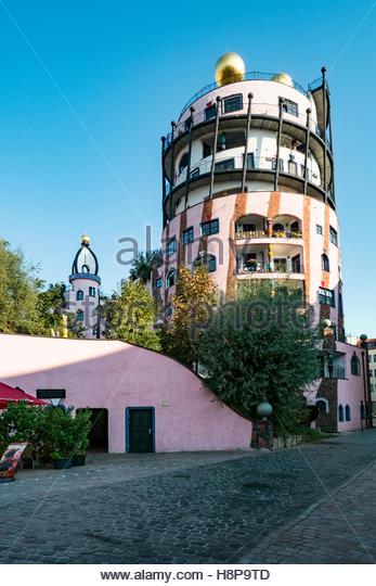 Germany architect friedensreich hundertwasser stock photos for Design hotel magdeburg