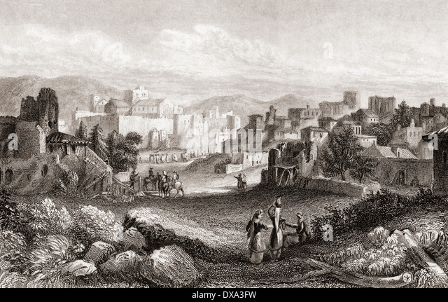 Bethlehem, Palestine in the 19th century. From a 19th century print. - Stock-Bilder