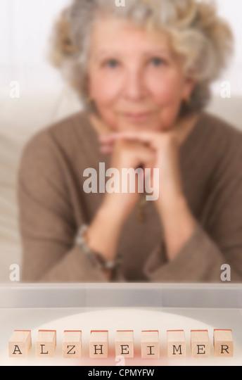 ALZHEIMER'S DISEASE - Stock Image