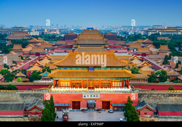 Beijing, China at the ancient Forbidden City. - Stock Image