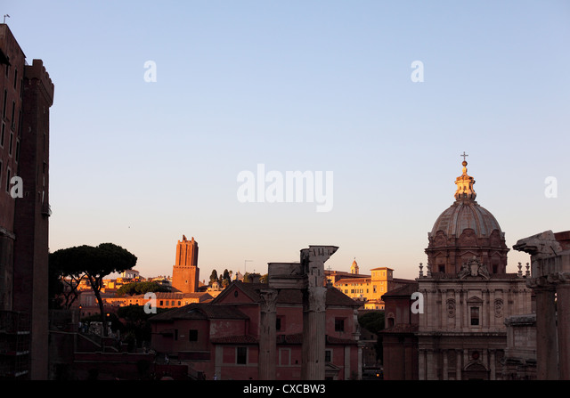 Rome, Capitol hill, Roman Forum, Forum Romanum - Stock Image
