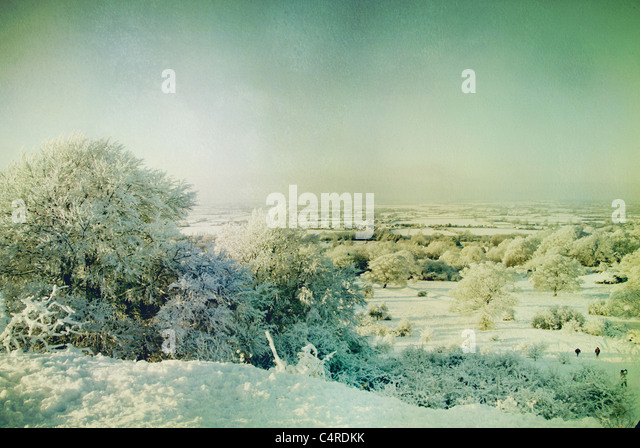 winter landscape - Stock-Bilder