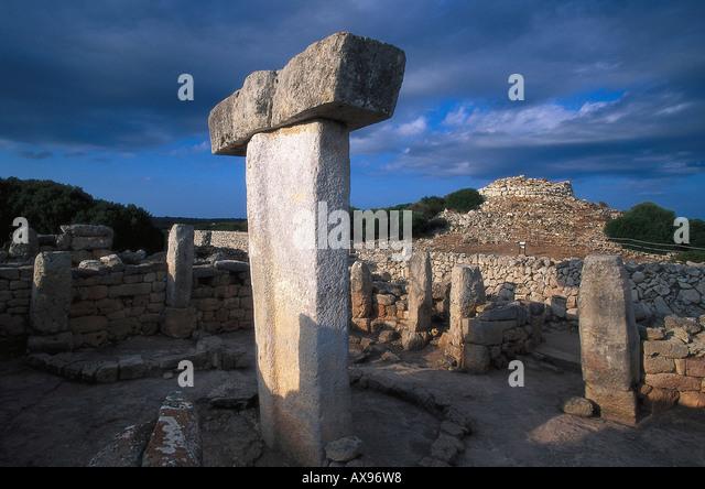 Prehistoric structure, Torralba d' en Salort, archaelogical site, Minorca, Spain - Stock Image