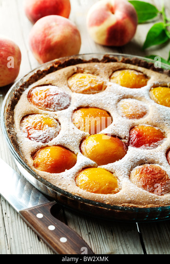 peach tart - Stock Image