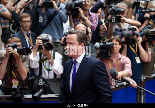 EU Summit, Justus Lipsius Building, Brussels Parliament, Belgium. 29.06.2012 David Cameron, British Prime Minister, - Stock Image