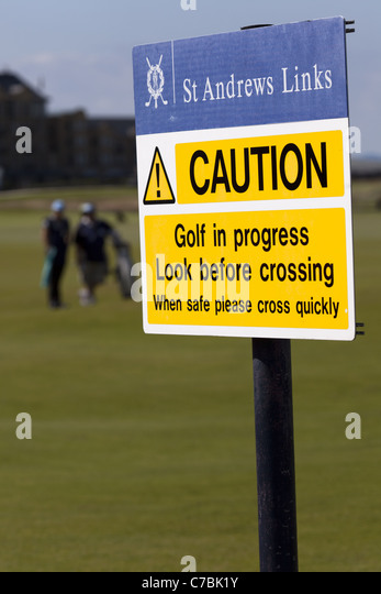 golf caution sign stock photos golf caution sign stock images alamy. Black Bedroom Furniture Sets. Home Design Ideas