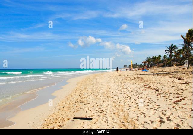 The beach of Playa del Este Havana Cuba - Stock Image