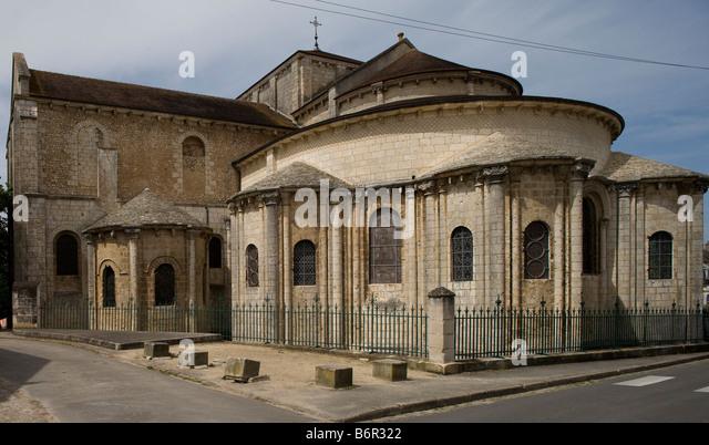 Poitiers, Saint-Hilaire, Chor von Südosten - Stock-Bilder