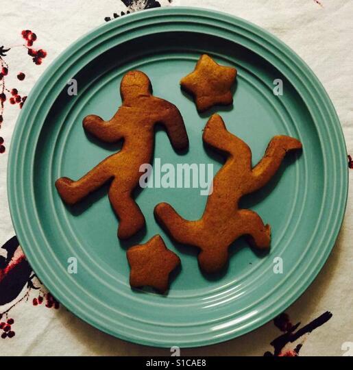 Crime scene gingerbread men - Stock-Bilder