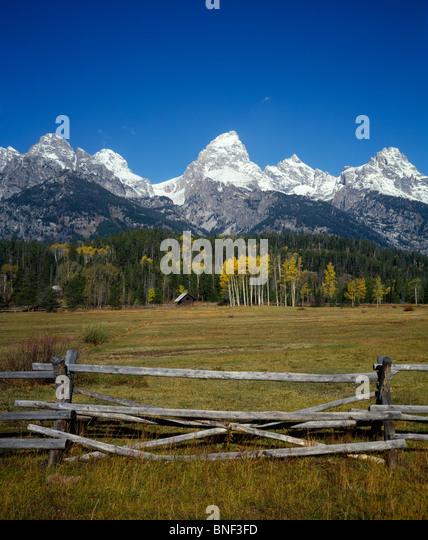 Ranch wooden fence stock photos