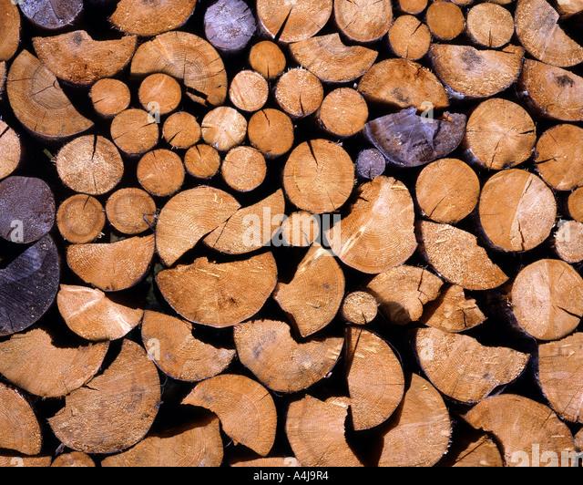 DE - BAVARIA:  Pile of Wood - Stock Image