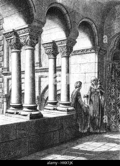 Reconstruction of the Imperial Palace, Kaiserpfalz or Barbarossaburg at Gelnhausen, Hesse, Germany - Stock-Bilder