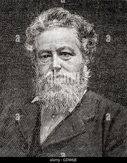 William Morris, 1834 –  1896.  English textile designer, poet, novelist, translator, and socialist activist. - Stock Image