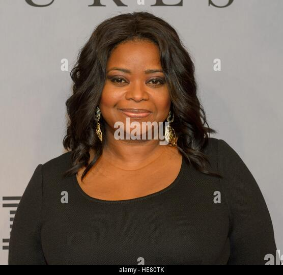 Actress Octavia Spencer walks the red carpet during the global celebration event for the film Hidden Figures at - Stock Image