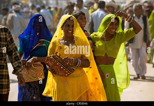 India, Rajasthan State, Pushkar, during the Pushkar Fair - Stock-Bilder