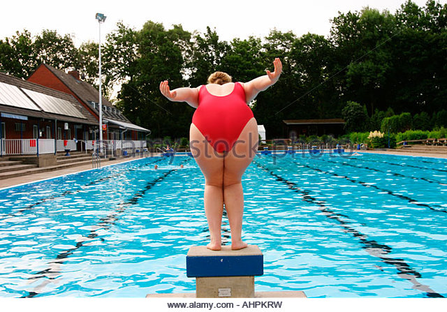 Obese Pool Swimming Overweight Stock Photos Obese Pool Swimming Overweight Stock Images Alamy