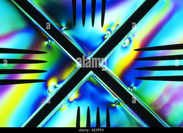 Abstract Pattern Made by Cross Polarisation of Light - Stock Image