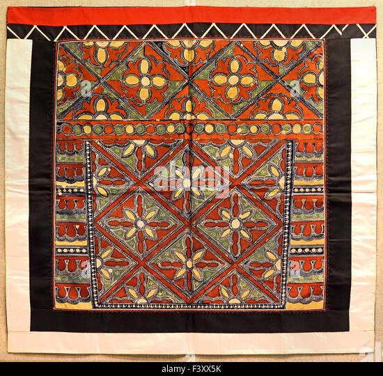 Polychrome batik decorative aprons   Miao ( Anshun  Guizhou ) 2nd half 20th Century Shanghai Museum of ancient Chinese - Stock Image