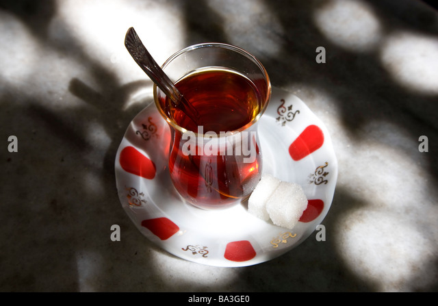 Turkish tea Istanbul Turkey - Stock Image