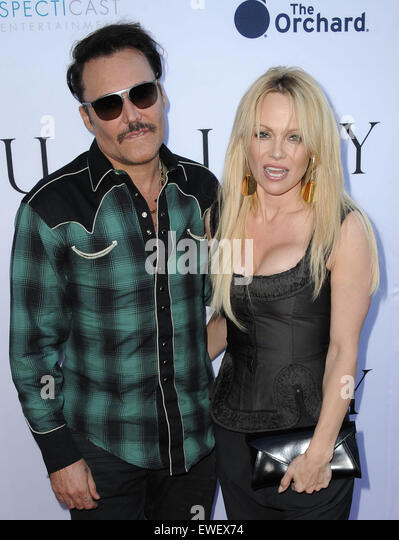 Los Angeles, California, USA. 24th June, 2015. David LaChapelle, Pamela Anderson attending the Los Angeles Premiere - Stock Image