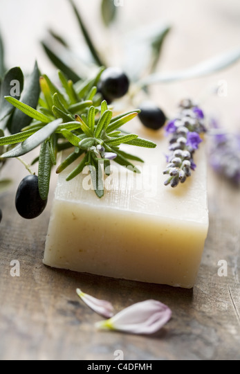 natural soap - Stock Image
