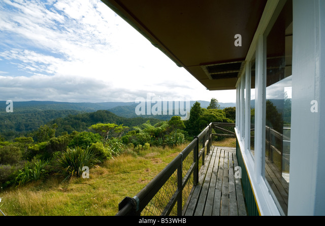 The Waipoua Kauri Forest lookout, North Island, New Zealand - Stock Image
