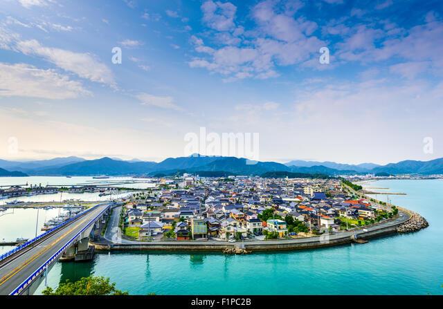 Senzaki, Nagato, Yamaguchi Japan town view. - Stock-Bilder