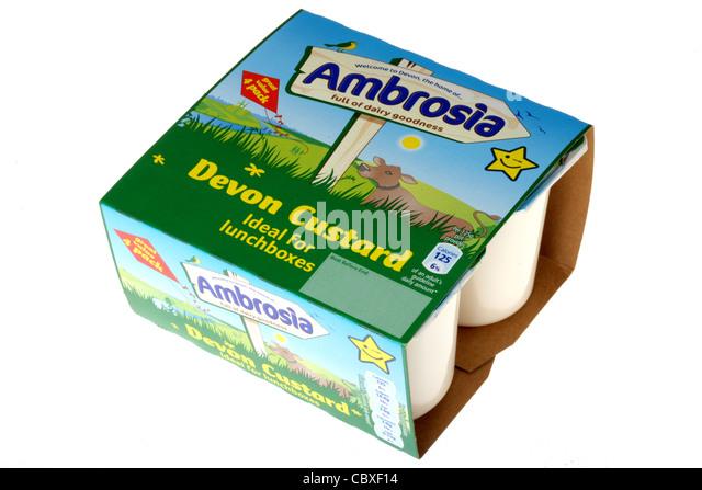 Ambrosia Custard Cake