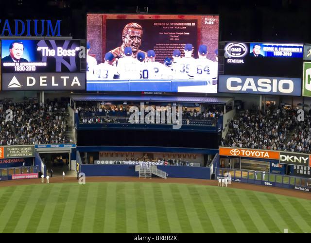 'Yankee Stadium, Dedication of George M. Steinbrenner's Plaque, New York' - Stock Image