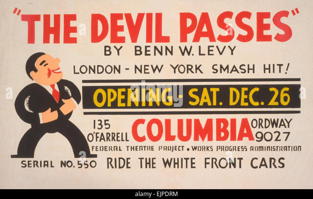 Theater posters by the Work Projects Administration (WPA) produced between 1936 and 1943.  (Library of Congress) - Stock-Bilder