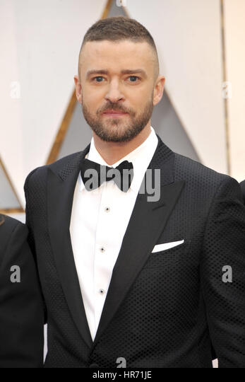 Hollywood, California. 26th Feb, 2017. Justin Timberlake attends the 89th Annual Academy Awards at Hollywood & - Stock Image