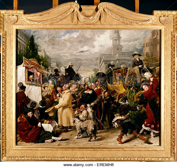 Punch or May Day by Benjamin Robert Haydon, 1829. Oil on canvas,  1505 x 1851 mm. English painter, teacher and writer - Stock Image