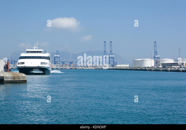 Algeciras port docks, near to Strait of Gibraltar. Cadiz, Spain - Stock Image