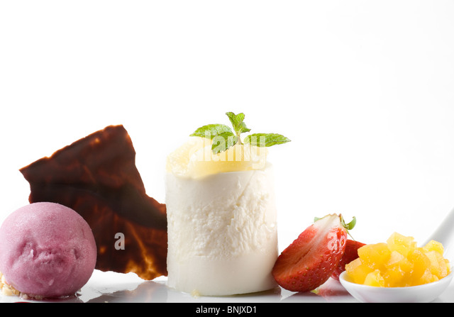 Stylish gourmet dessert - Stock-Bilder