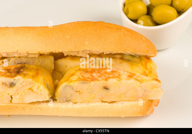 Spanish Omelette Sandwich Stock Photos & Spanish Omelette ...