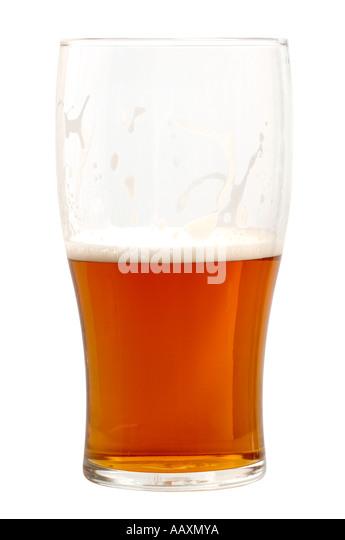 Half pint of beer - Stock Image