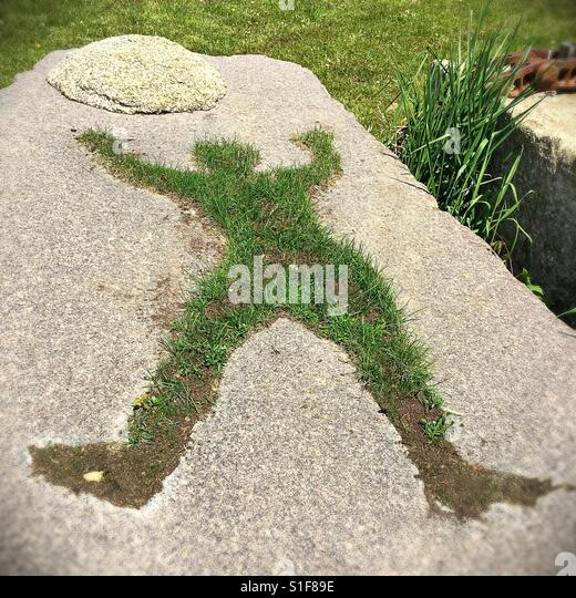 A grass and concrete sculpture at Big Stone Mini Golf and Sculpture Park in Minnetrista, Minnesota, USA. - Stock Image