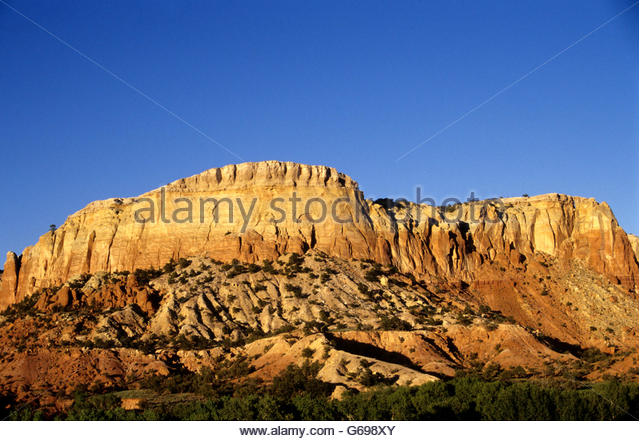 Kitchen Mesa - Ghost Ranch, Abiquiu, New Mexico, - Stock Image