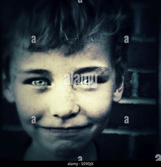boy with bright eyes - Stock Image