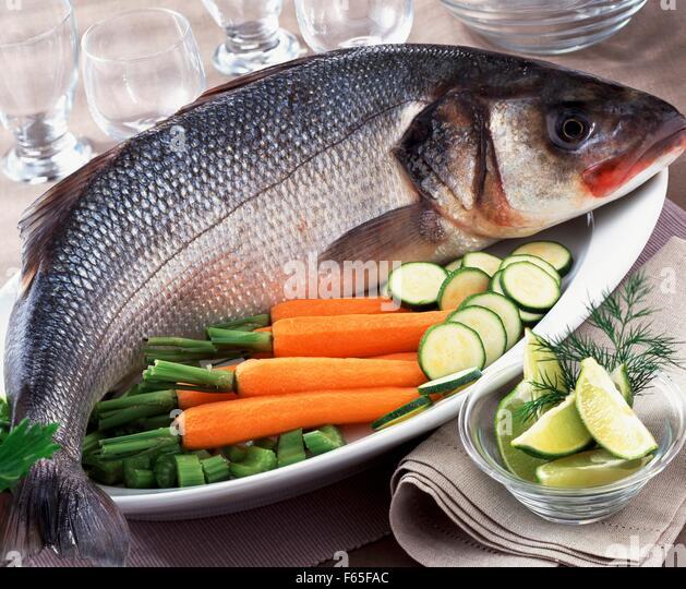 Whole bass - Stock Image