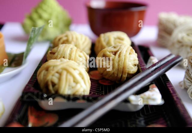 Malaysian sweet potato balls - Stock Image