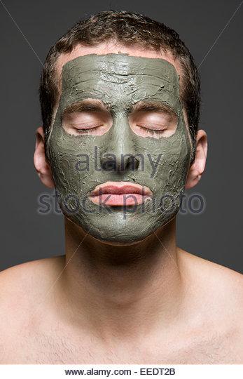 Man Having Facial - Stock Image