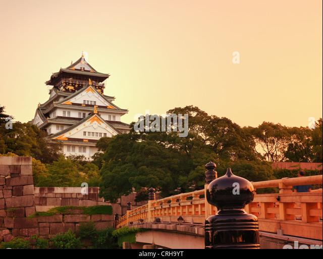 Osaka Castle in Osaka, Japan. - Stock Image