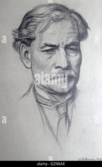 Portrait of The Right Honourable J. Ramsay MacDonald - Stock Image